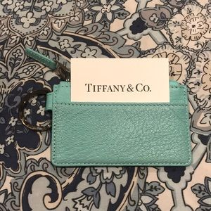 Tiffany & Co. Blue Leather Card Holder 💙